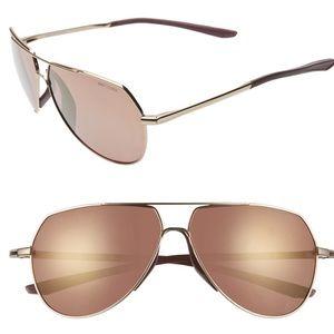 Nike Outrider 62mm Mirrored Aviator Sunglasses